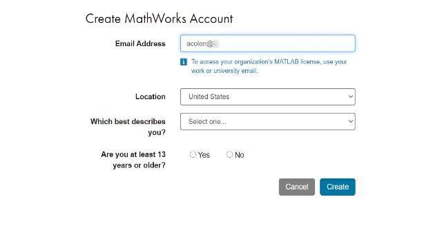 Campus-Wide License のポータルがある大学に所属されている場合は、こちらの手順に従って MathWorks アカウントを作成し、インストールしてください。
