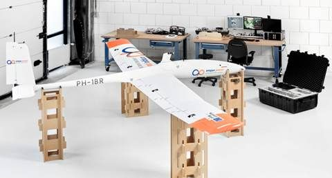 Ampyx Power's tethered drone aircraft converts wind at higher altitudes into electricity.