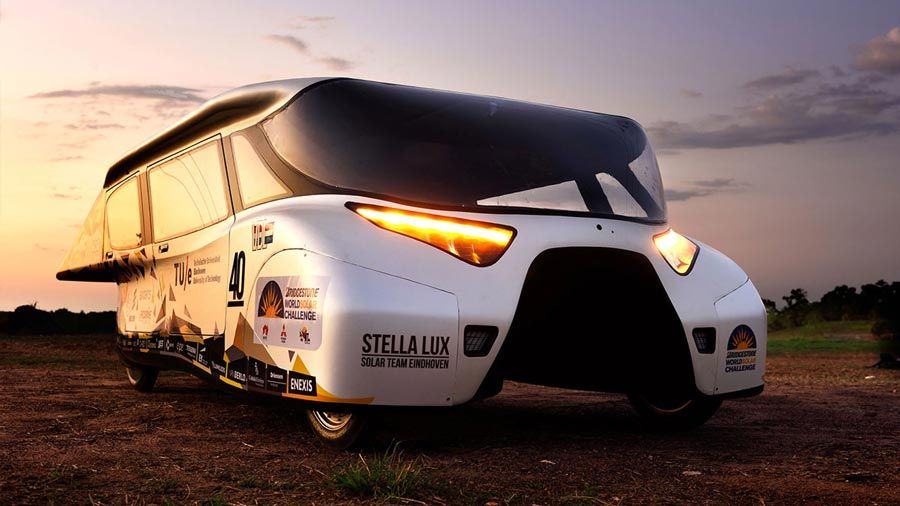 The second-generation solar car from Eindhoven University, the Stella Lux.