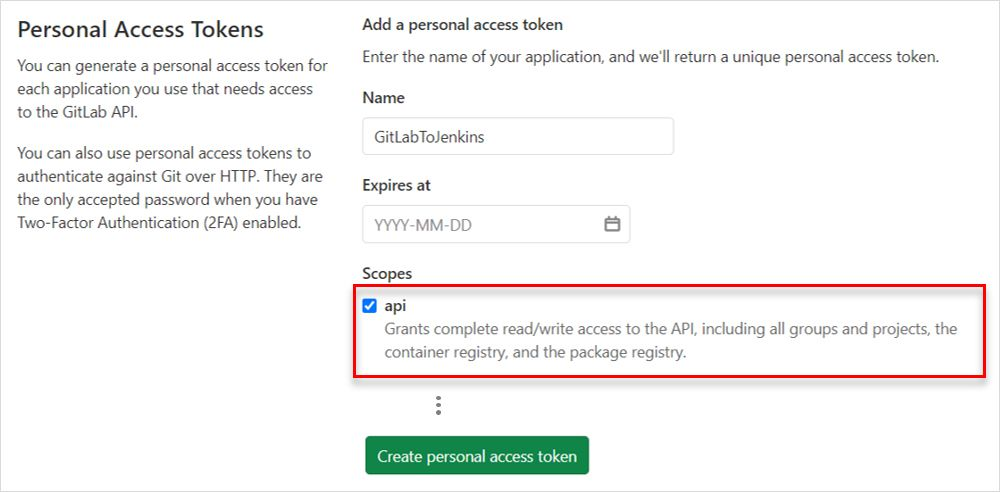 Personal access tokens