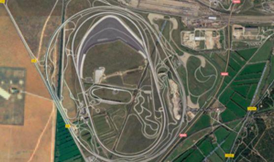 図 2. フランス、ミラマにある BMW の性能試験場。