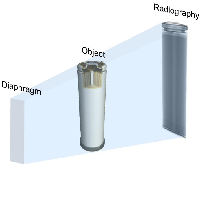 Figure 1.  Illustration of a neutron radiograph.
