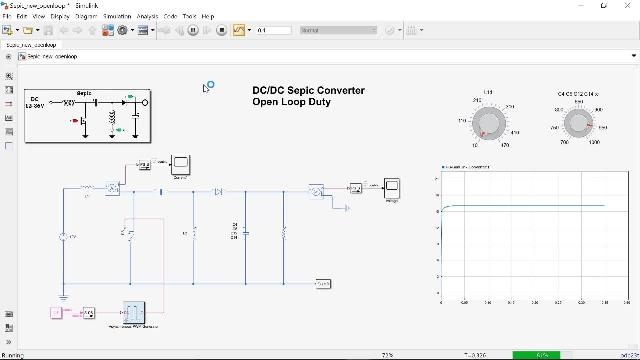 Learn how to model a DC-DC  converter in Simscape and use simulation to size inductor and capacitor and understand converter behavior in continuous and discontinuous conduction modes.