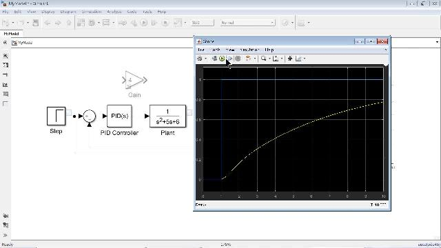 Visualize simulation results using tools such as the Simulation Data Inspector to view and compare signal data from multiple simulations, or the Dashboard Scope to see your results directly in the Simulink editor.