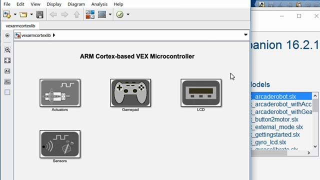 Discover the benefits to using Simulink and the VEX Cortex Microcontroller library.