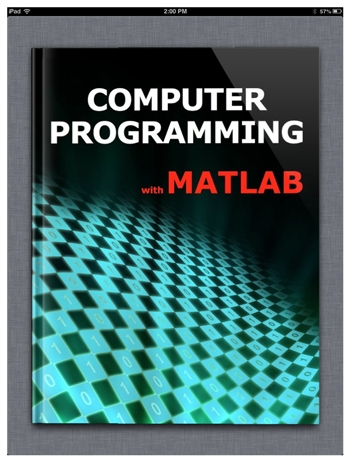 Figure 1. The Computer Programming with MATLAB eBook.