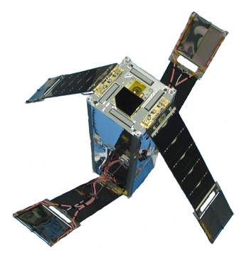 Figure 1. The Delfi-C3 satellite, designed and constructed at TU Delft.