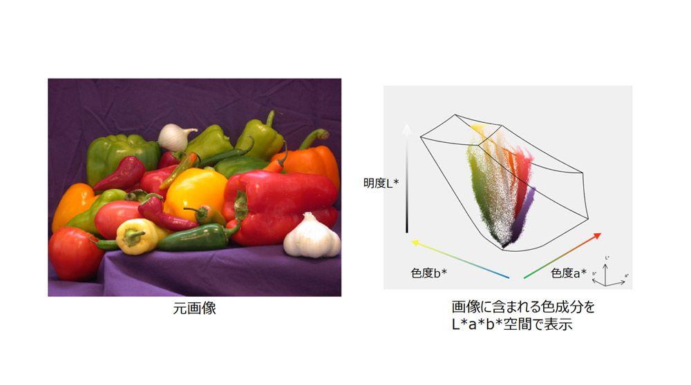 様々な色の構成方法(L*a*b*色空間)