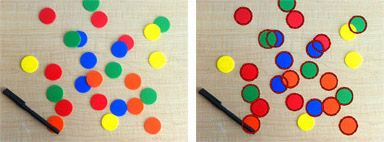 Counting circular objects in an image
