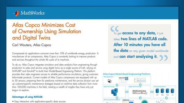 アトラスコプコ、シミュレーションとデジタルツインによって製品の所有コストを削減
