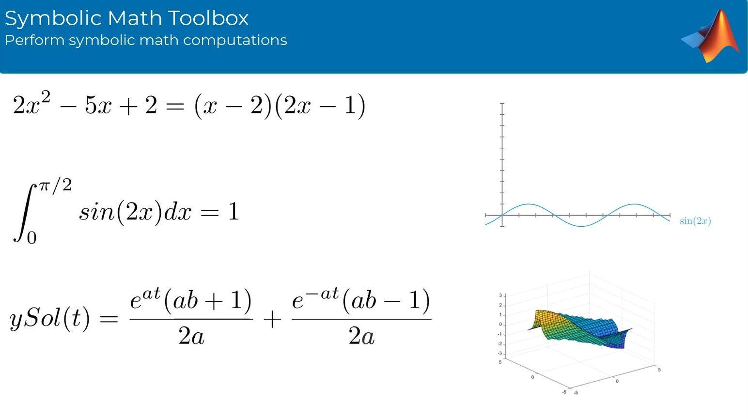 Symbolic Math Toolbox™ を使用して数式処理と可変精度演算を使用した数学演算を実行します。