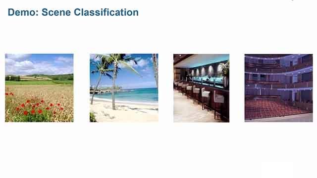 画像特徴量をもとにしたシーンの識別は、機械学習を用いて実行することができます。識別には、Bag-of-Featuresというコンピュータビジョンでよく使われる特徴量を使用します。