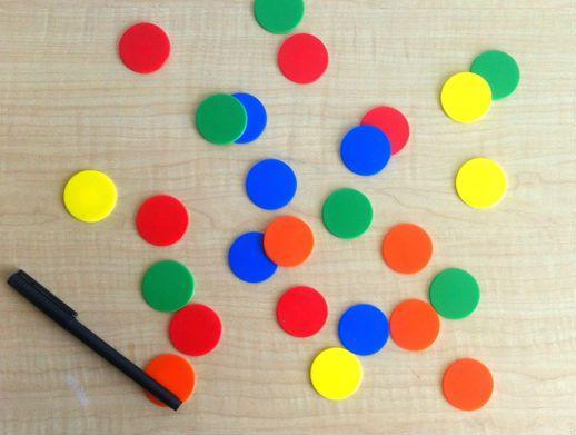 画像から赤色の円形チップを抽出