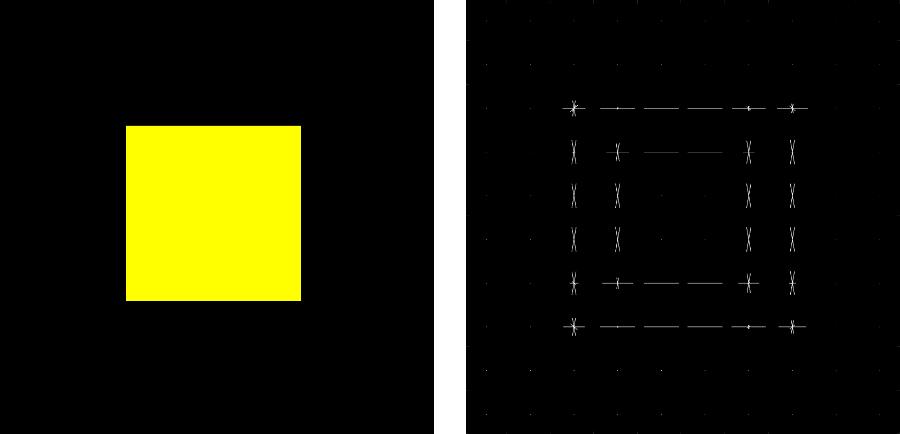 正方形の物体に対してHoG特徴量を抽出