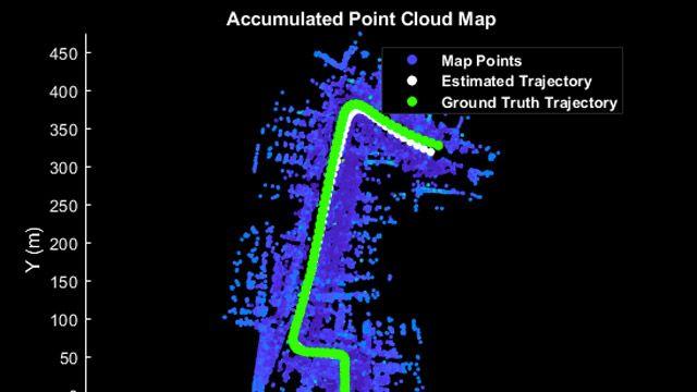 3D Lidarデータからのマップ作成
