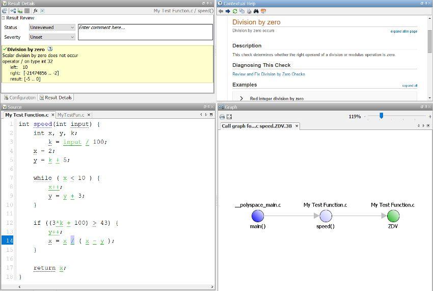 Polyspace Code Proverを使ったDivide by Zero(ゼロ除算)チェック