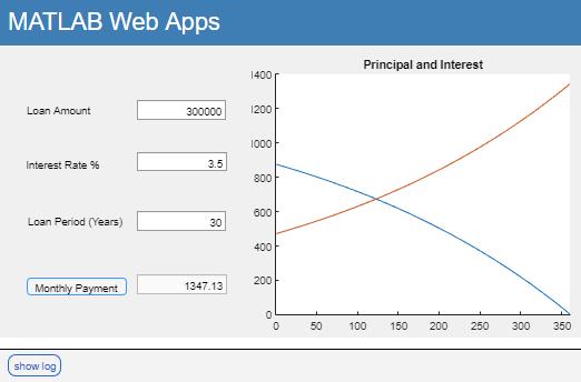 simple mortgage calculator web app matlab simulink mathworks 日本