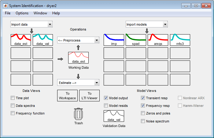 identify models of dynamic systems from measured data matlab