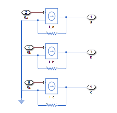 ideal three phase controlled current source matlab mathworks 日本