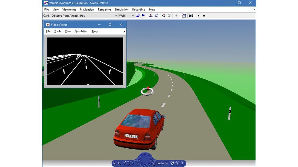 車両運動のシミュレーション。