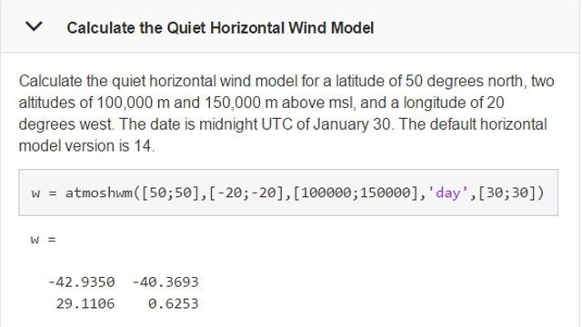 atmoshwm 関数の使用例。