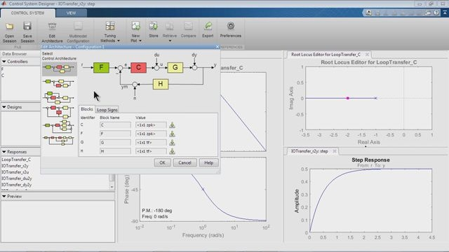 SISO 設計ツールを使用して、制御システムを設計します。