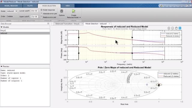 低次線形モデルを持つ近似非線形 Simulink モデル。