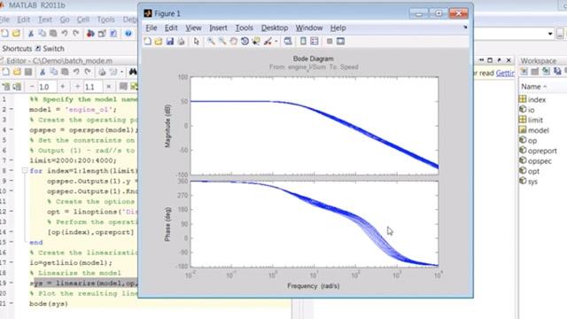 Simulink モデルの平衡化と線形化をバッチ モードで実行するスクリプトを作成します。
