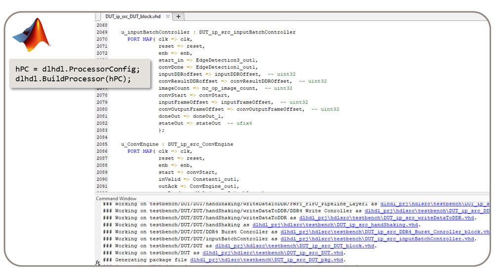 dlhdl.BuildProcessor クラスは、カスタム ディープラーニング プロセッサから論理合成可能な RTL を生成します。
