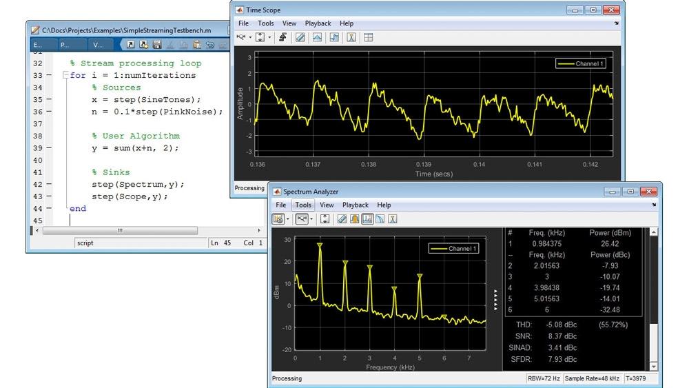MATLAB でのストリーミング信号処理