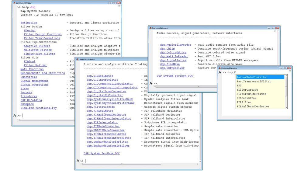 MATLAB でのストリーミング信号処理用のライブラリ