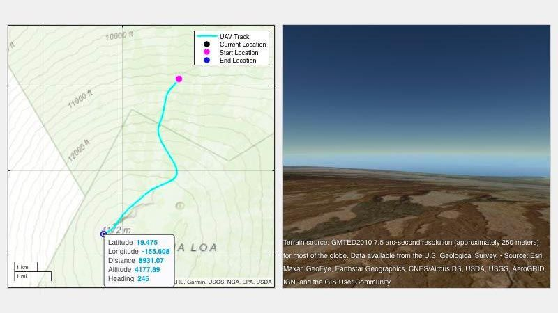 2D および 3D の地図表示