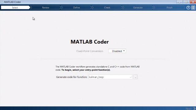 MATLAB Coder を使用して、MATLAB コードから C コードと C++ コードを生成します。