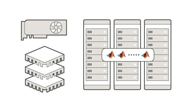 複数の計算ノードの CPU および GPU で実行します。