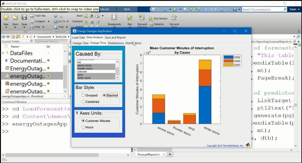 このビデオでは MATLAB Report Generator を紹介します。ビデオでは、最初に自動レポート生成を使用するアプリケーションの例を確認します。また、MATLAB コードを使用したレポート生成の簡単な例やその他 2 例 (テンプレートを使用したレポート作成方法など) を紹介します。