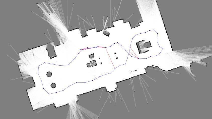 カスタマイズした自己位置推定と環境地図作成ソリューションを実装します。
