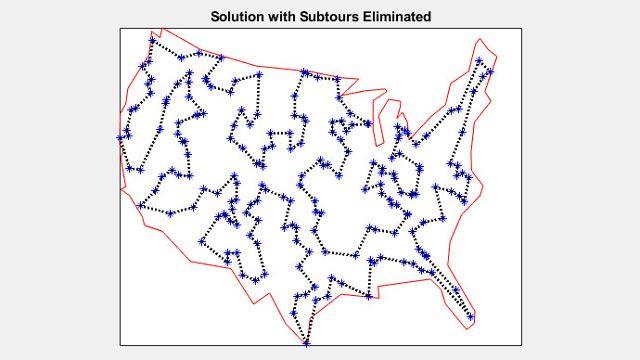 200 都市をめぐる巡回セールスマン問題の解法