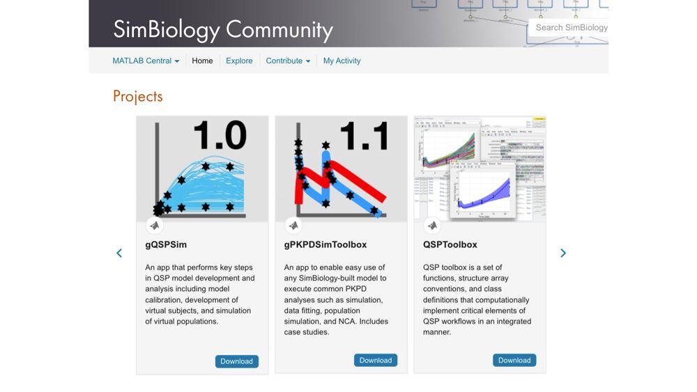 SimBiology オンライン コミュニティのコミュニティ提供ツール。
