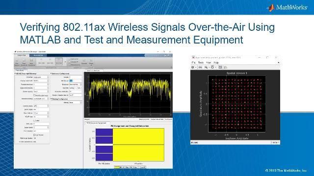 MATLAB とテスト機器で無線信号をテスト。信号品質を検証するには、コンスタレーション プロットを見て、信号のエラーベクトル振幅 (EVM) を算出します。