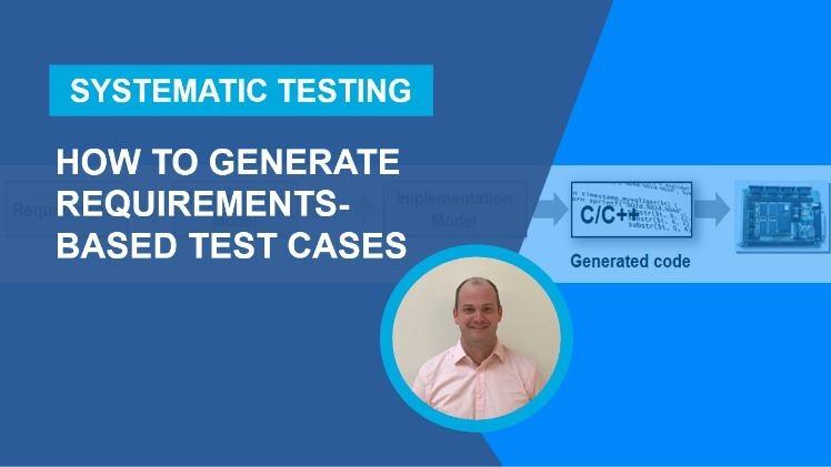 Simulink Design Verifier™ を使用して、システム要件のモデルからテスト ケースを生成します。