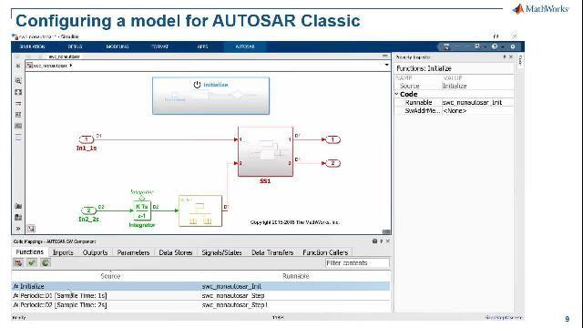 AUTOSAR Classic および Adaptive ソフトウェア コンポーネントの開発とシミュレーション、ECU ソフトウェアのシミュレーション、最適化された量産用 C および C++ コードの生成方法をご紹介します。