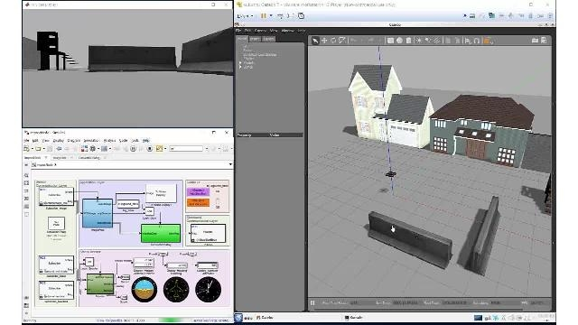 Robotics System Toolbox、ROS Toolbox、Gazebo を使用した、自律アルゴリズムのシミュレーションおよび検証