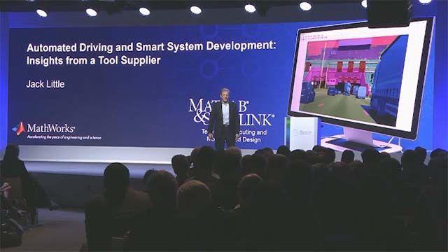 MathWorks の社長兼共同創設者である Jack Little が、より自律性の高い高信頼性自動車システムを開発するためのツールとプロセスについて Bosch Connected World 2018 で語っています。