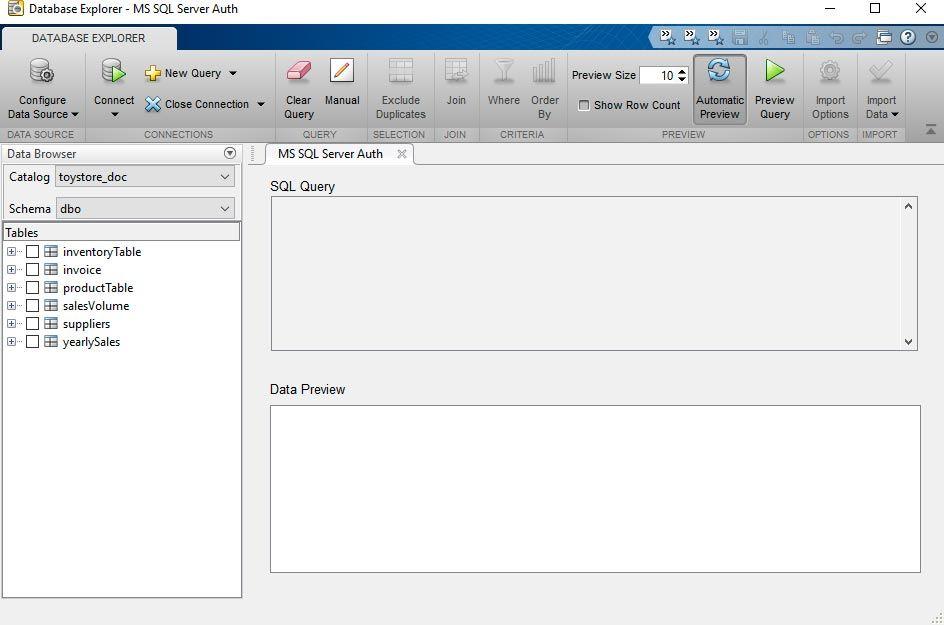 Database Explorer アプリ