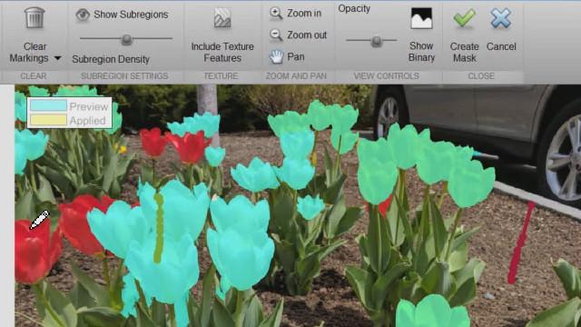 画像セグメンテーション アプリでは、強度ベースのアプローチやグラフカット、円の検索、および増大領域などの手法を用いてセグメンテーションしたあとの画像をプレビューすることができます。