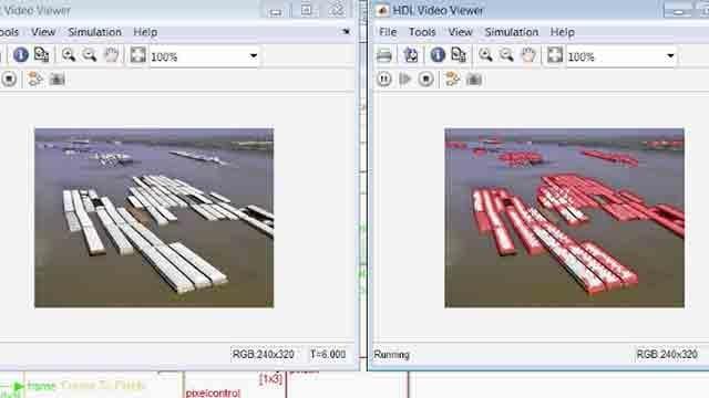 Vision HDL Toolbox を使用して、コーナー検出のストリーミング ハードウェアに対応した実装を作成。