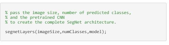 セマンティック セグメンテーション - SegNet アーキテクチャを構築するコード
