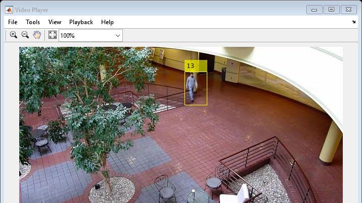 例:動きに基づく複数オブジェクトの追跡