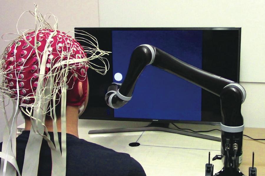 非侵襲的ブレイン コンピューター インターフェイス (BCI)。画像著作権: カーネギーメロン大学