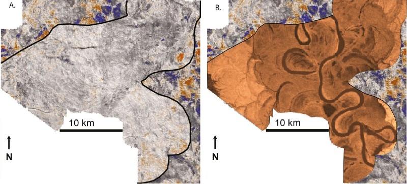 元の地震記象画像と拡張後の地震記象画像
